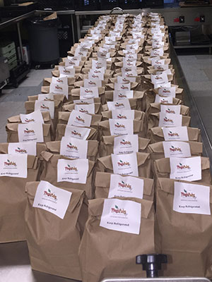 Lunches ready for delivery.